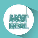 Hot deals design Royalty Free Stock Images