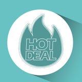 Hot deals design Stock Image