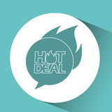 Hot deals design Royalty Free Stock Image