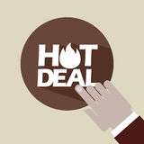 Hot deals design Royalty Free Stock Photography