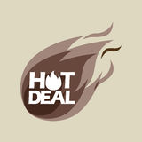 Hot deals design. Illustration eps10 graphic Stock Photography