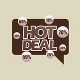 Hot deals design. Illustration eps10 graphic Royalty Free Stock Images
