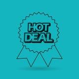Hot deals design. Illustration eps10 graphic Royalty Free Stock Image