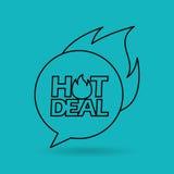 Hot deals design. Illustration eps10 graphic Stock Image