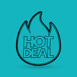Hot deals design. Illustration eps10 graphic Royalty Free Stock Photo