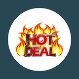 Hot deals design. Illustration eps10 graphic Stock Images