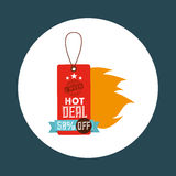 Hot deals design. Illustration eps10 graphic Royalty Free Stock Photos