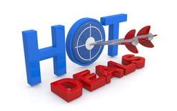Hot deals graphics Royalty Free Stock Photos