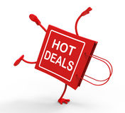 Hot Deals On Handstand Shopping Bag Royalty Free Stock Photo