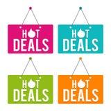Hot Deals hanging Door Sign. Eps10 Vector. Hot Deals hanging Door Sign. Eps10 Vector illustration Stock Photography