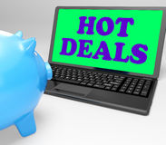 Hot Deals Laptop Means Best Buys And Reduced Price Stock Images