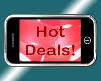 Hot Deals Mobile Message Stock Images