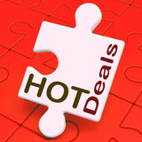 Hot Deals Puzzle Means Amazing Offer Deal Royalty Free Stock Photo