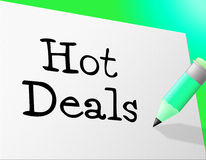 Hot Deals Represents Save Retail And Sales Stock Photos