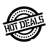 Hot Deals rubber stamp Stock Image