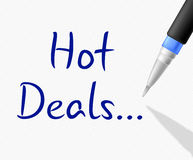 Hot Deals Shows Clearance Reduction And Save Stock Image