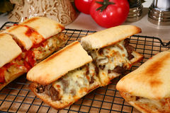 Hot Deli Sandwiches Royalty Free Stock Images