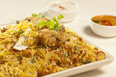 Hot delicious chicken biryani. Stock Image