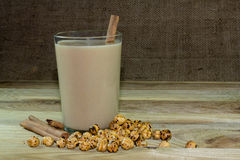 Hot delicious drinks to Boza. Boza and unique blend of chickpeas Royalty Free Stock Photo