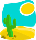 Hot desert Royalty Free Stock Photos