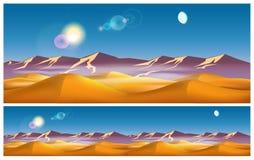 Hot desert in the daytime stock illustration