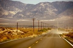 Hot Desert Road Stock Image