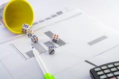Hot desk top view probability,statistics,histograms,etc Stock Image