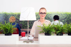 Hot desking Stock Image