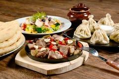 Hot dinner Stock Images