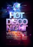 Disco ball background. Hot disco night party poster on open space background. Hot disco night party poster on open space background royalty free illustration