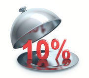 Hot Discount 10 percent. Isolated on white background Royalty Free Stock Images