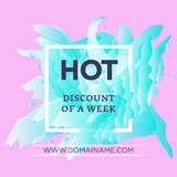 Hot discount of a week Royalty Free Stock Photography