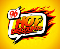 Hot discounts sale concept Stock Photos