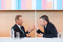 Hot discussion. Royalty Free Stock Photo