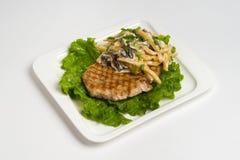 Hot dish on white background Stock Photography