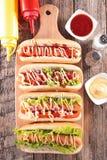 Hot-dog à bord Image libre de droits