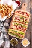 Hot-dog à bord Images stock