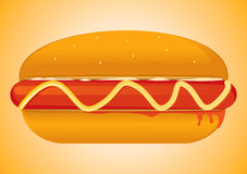 Hot Dog. Vector Drawing 1 Stock Illustration