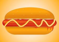 Hot Dog. Vector Drawing 1 Stock Photo