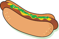 Hot Dog. With relish and mustard Stock Photo