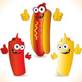 Hot dog illustration stock