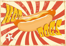 Hot dog. American backgrounds food Royalty Free Stock Images