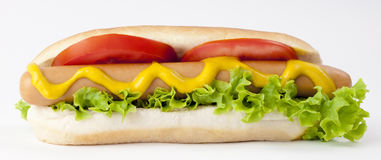 Hot Dog. Hot Dog and Drink isolated on white Royalty Free Stock Photos