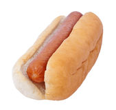 Hot dog. Isolated on white background stock photo