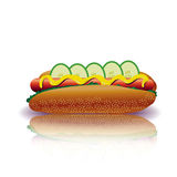 Hot-dog Photos libres de droits