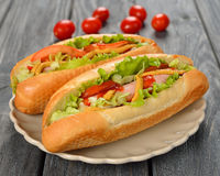 Hot dog Fotografia Stock