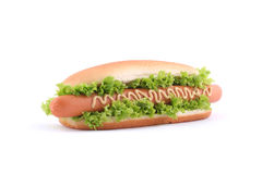 Hot dog. Isolated on white Royalty Free Stock Image