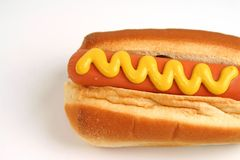 Hot Dog. With mustard royalty free stock image