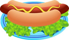Hot dog illustration stock