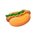 Hot dog illustrazione vettoriale